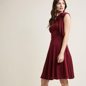 Red A Line Cocktail Dress
